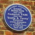 Plaque to Fanny & Stella
