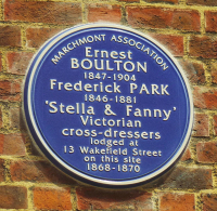 Plaque to Fanny & Stella
